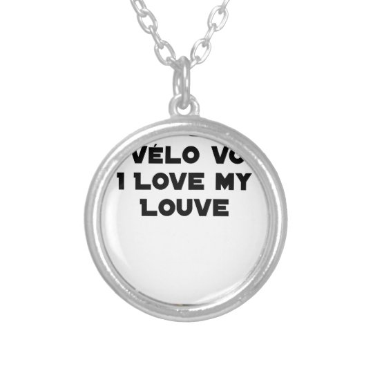 Coiled against a Stolen Bicycle, I Coils my Louve Silver Plated Necklace