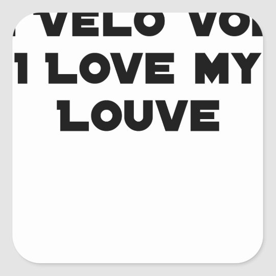 Coiled against a Stolen Bicycle, I Coils my Louve Square Sticker