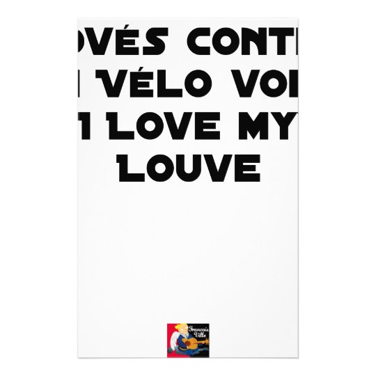 Coiled against a Stolen Bicycle, I Coils my Louve Stationery