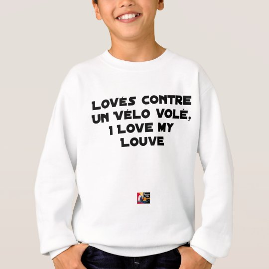 Coiled against a Stolen Bicycle, I Coils my Louve Sweatshirt