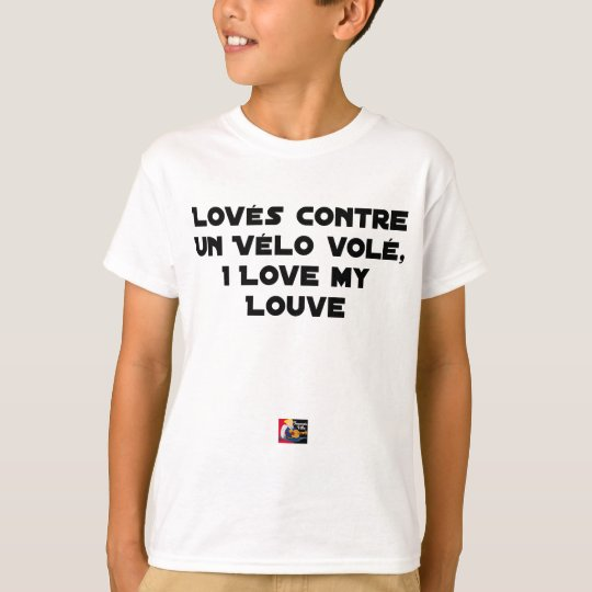 Coiled against a Stolen Bicycle, I Coils my Louve T-Shirt