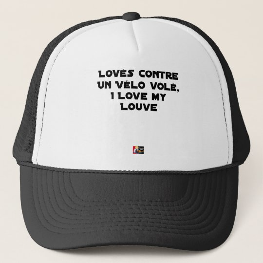 Coiled against a Stolen Bicycle, I Coils my Louve Trucker Hat