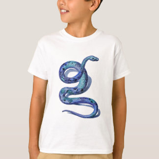Coiled Blue Snake T-Shirt