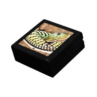 coiled snake painting jewelry boxes