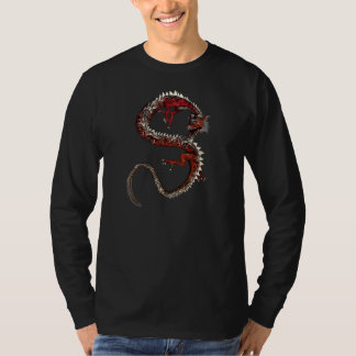 Coiled To Strike Dragon Asian Tattoo Fantasy Shirt