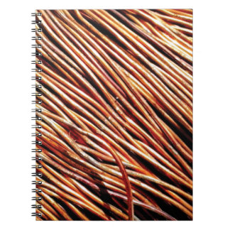 coils of the electric motor spiral notebook