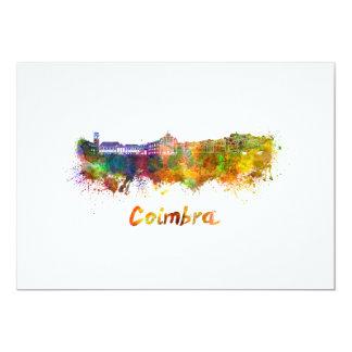 Coimbra skyline in watercolor card