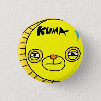 Coin bear, coinkumasan, 1 inch round button
