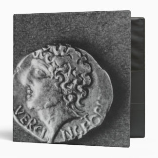 Coin bearing the effigy of Vercingetorix Vinyl Binder