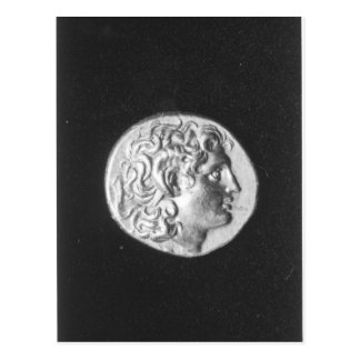 Coin bearing the head of Alexander the Great Postcard