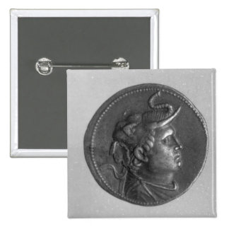 Coin minted by Ptolemy I 2 Inch Square Button