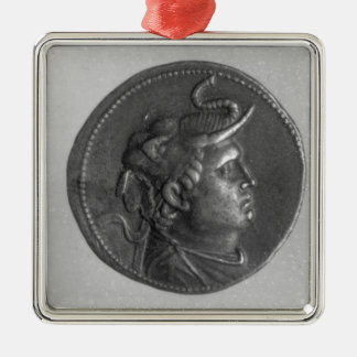 Coin minted by Ptolemy I Silver-Colored Square Ornament