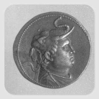 Coin minted by Ptolemy I Square Sticker