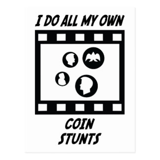 Coin Stunts Postcard