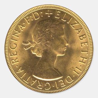 Coin Template Round Sticker