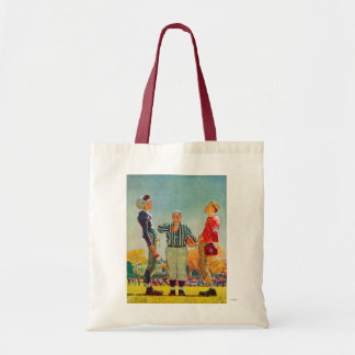 Coin Toss by Norman Rockwell Tote Bag