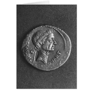 Coin with a portrait of Julius Caesar Card