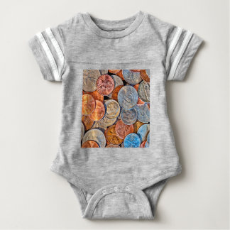 Coined Currency Baby Bodysuit