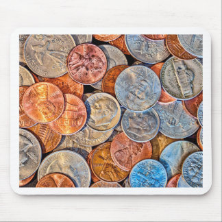 Coined Currency Mouse Pad