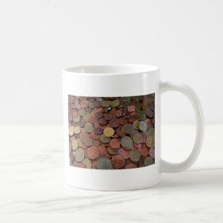 coins coffee mug