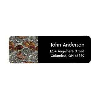 Coins Money Masculine Return Address Labels