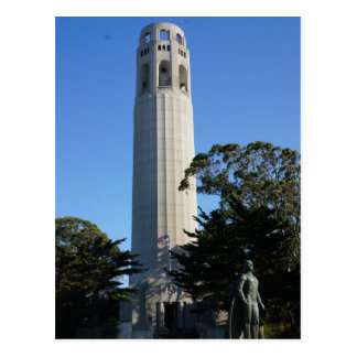 Coit Tower & Columbus Statue #2 Postcard