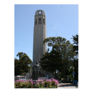 Coit Tower on Telegraph Hill in San Francisco Postcard
