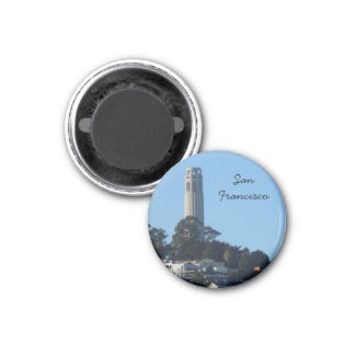 Coit Tower- San Francisco 1 Inch Round Magnet