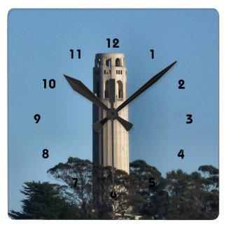 Coit Tower Wall Clock** Read description below Square Wall Clock
