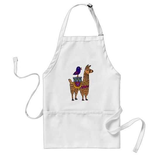 Col Llama with Colourful Blanket and Packages Standard Apron