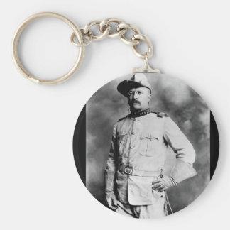 Col. Theodore Roosevelt, 1st Cavalry_War Image Basic Round Button Keychain