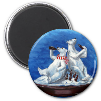 Cola-drinking Polar Bears Magnet