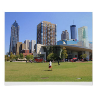 cola view of Downtown Atlanta Poster