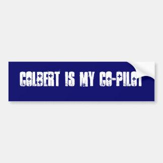COLBERT IS MY CO-PILOT BUMPER STICKER