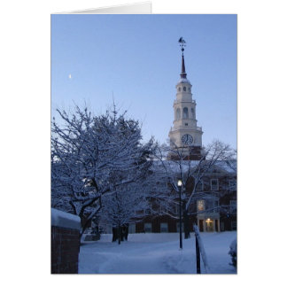 Colby College in snow Card