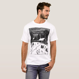 Colby Farm Illustration T-Shirt. T-Shirt