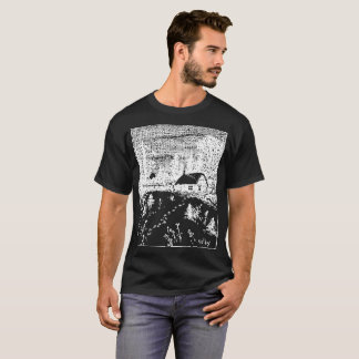 Colby Farm Inverse Illustration T-Shirt. T-Shirt