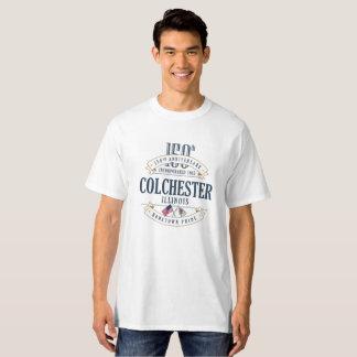 Colchester, Illinois 150th Anniv. White T-Shirt