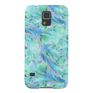 Cold abstract floral elements seamless pattern galaxy s5 case