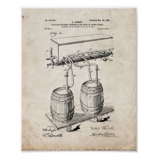 Cold-air-pressure Apparatus For Beer Or Other Flui Poster
