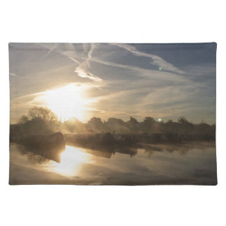 Cold and frosty morning. placemat