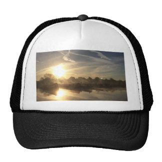 Cold and frosty morning. trucker hat