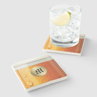 Cold Beer Marble or Other Coaster