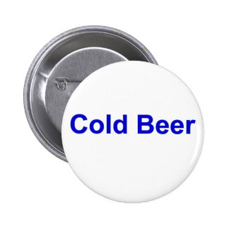 cold beer pinback button