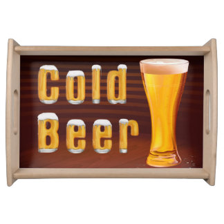 Cold Beer Serving Tray