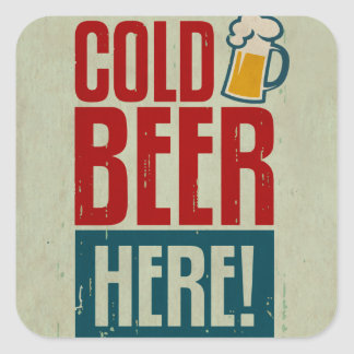 Cold Beer Stickers