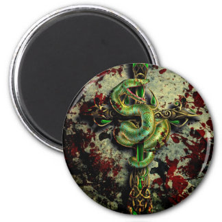 Cold Blooded 2 Inch Round Magnet
