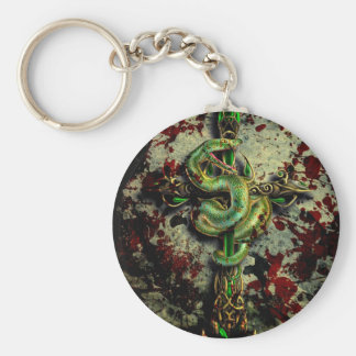 Cold Blooded Basic Round Button Keychain