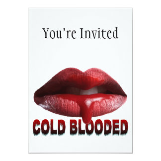 Cold Blooded Lips 5x7 Paper Invitation Card