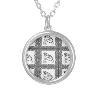 cold blooded lizard yeah silver plated necklace